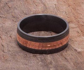 Black Zirconium & Copper Ring