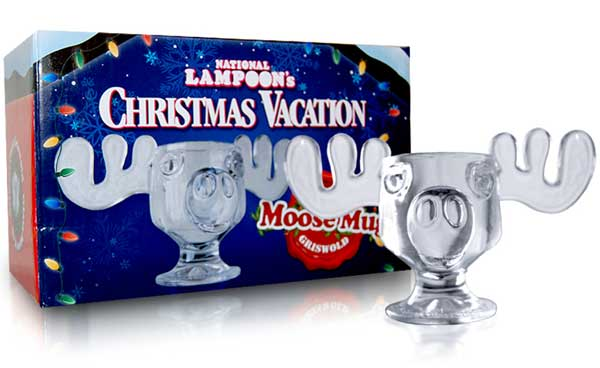 Christmas Vacation Glass Moose Mug