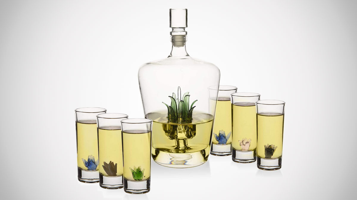 Agave Tequila Decanter Set & Glasses