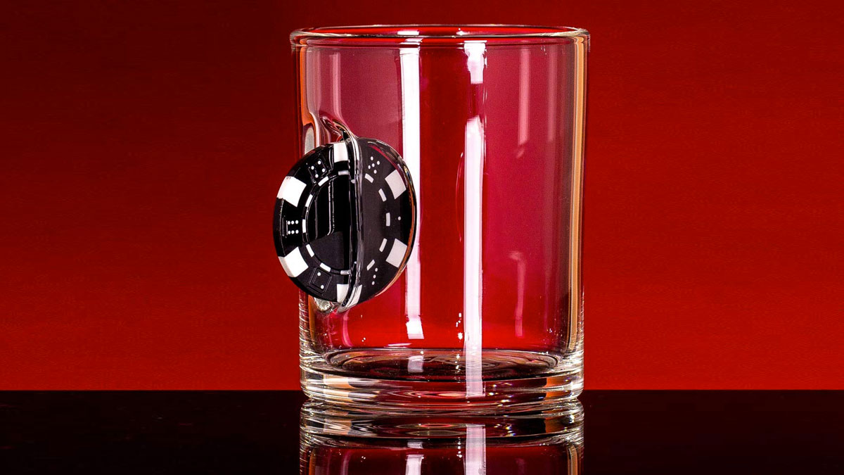 Casino Chip Whiskey Glass