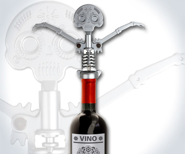 Day of the Dead Skull Corkscrew