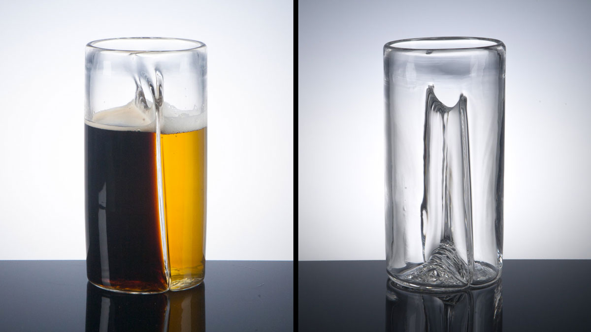 Dual Beer Glass