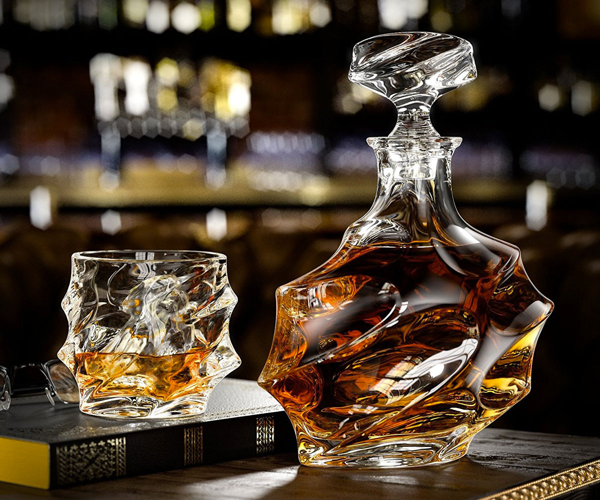 everest whiskey decanter set. Black Bedroom Furniture Sets. Home Design Ideas