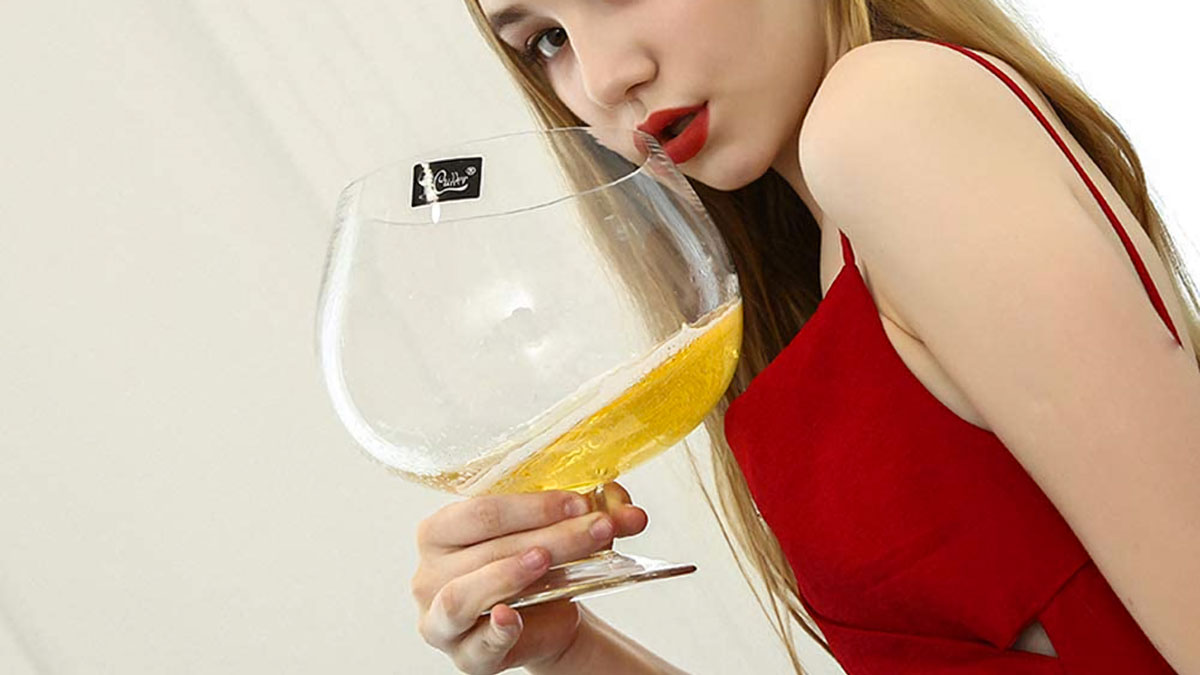 Giant Crystal Glass Brandy Snifters