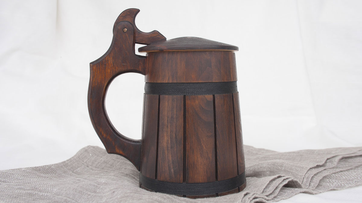 Handmade Wooden Beer Mugs