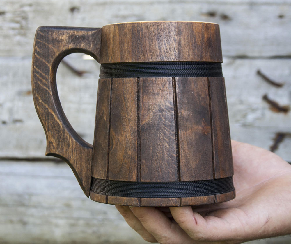 Handmade Wooden Beer Mugs Dudeiwantthat Com