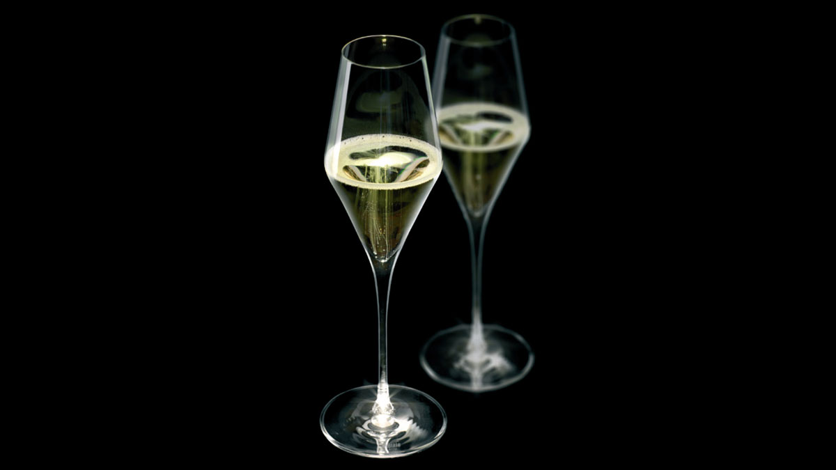 LED Champagne Flutes