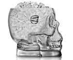 Glass Skull Ice Bucket - Side View