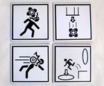 Portal 2 Warning Sign Coasters