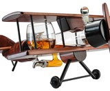 Airplane Whiskey Decanter & Glass Set