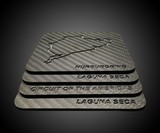Carbon Fiber Race Track Drink Coaster Set