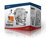 Glass Skull Ice Bucket in Box