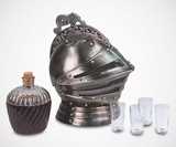 Medieval Knight's Helmet Decanter Set