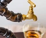 Pipe Man Liquor Bottle Holder & Dispenser
