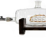 Ship in a Bourbon Barrel Decanter