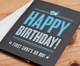 Shot Glass Birthday Card