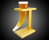 Viking Beer Horn Glass with Stand