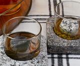 Whiskey-Chilling Granite Coaster Set