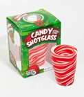 Candy Cane Edible Shot Glasses