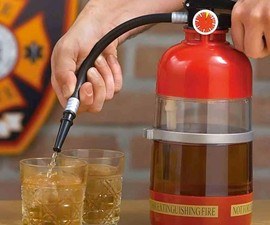Fire Extinguisher Booze Shaker & Dispenser