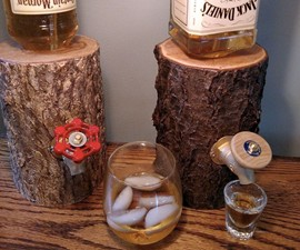 Liquor Log Booze Dispenser