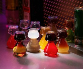 Quaffer Double Bubble Layered Shot Glass