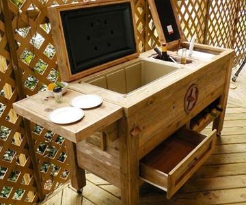 Merveilleux Rustic Patio Bar U0026 Cooler