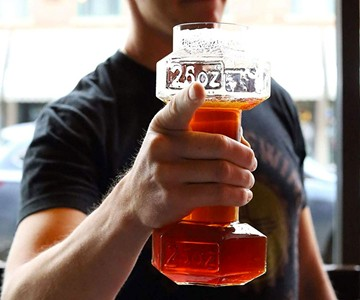 Dumbbell Beer Glasses
