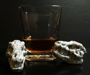 Whiskey Bones - Hand Carved Granite T-Rex Skulls