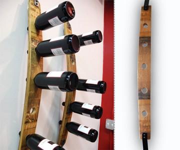 Wine Barrel Bottle Tower