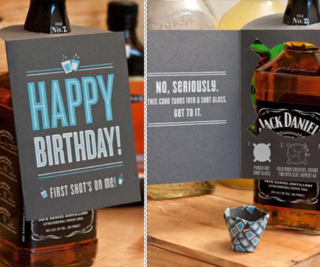 Shot Glass Birthday Card Dudeiwantthat