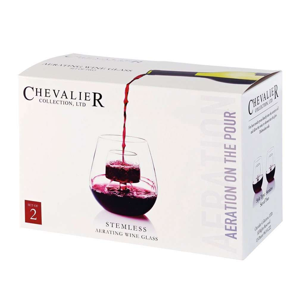 aerating stemless wine glass set