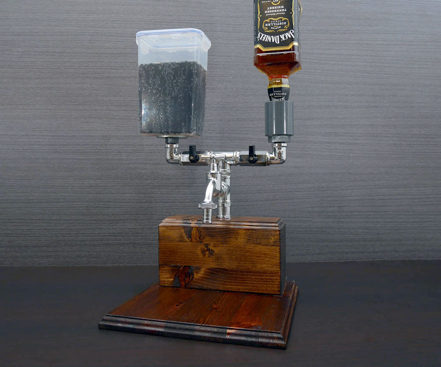 Wood Liquor Amp Mixer Dispenser Dudeiwantthat Com