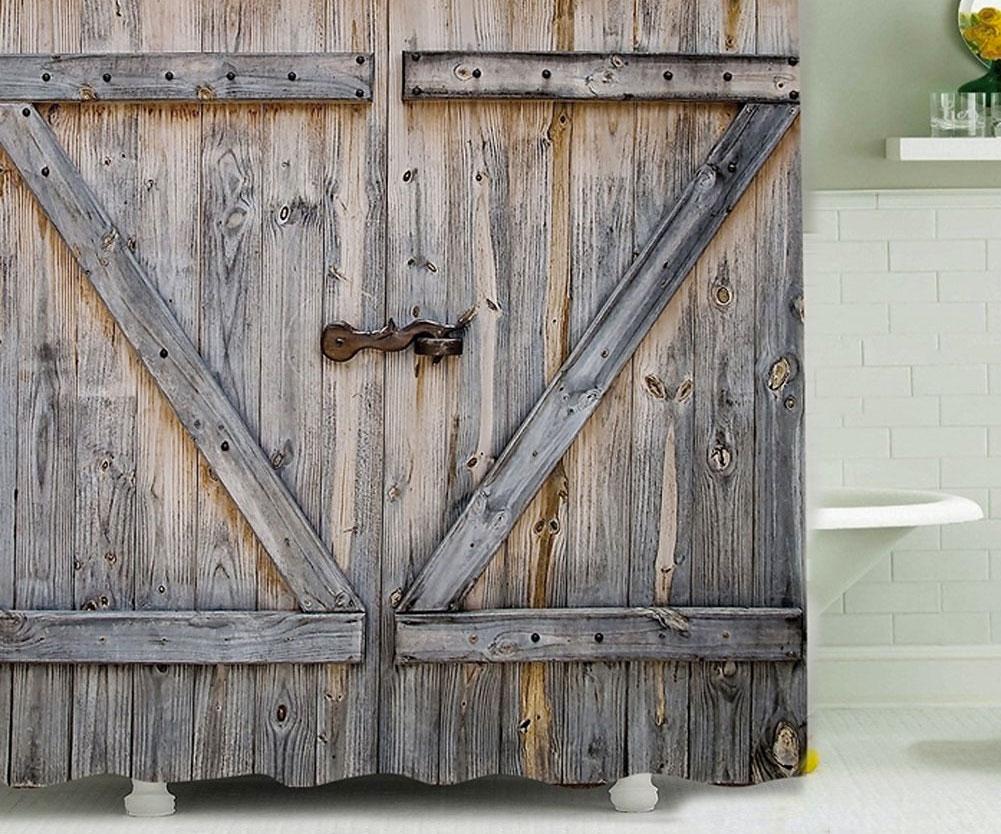 Nice Barn Door Shower Curtain ...