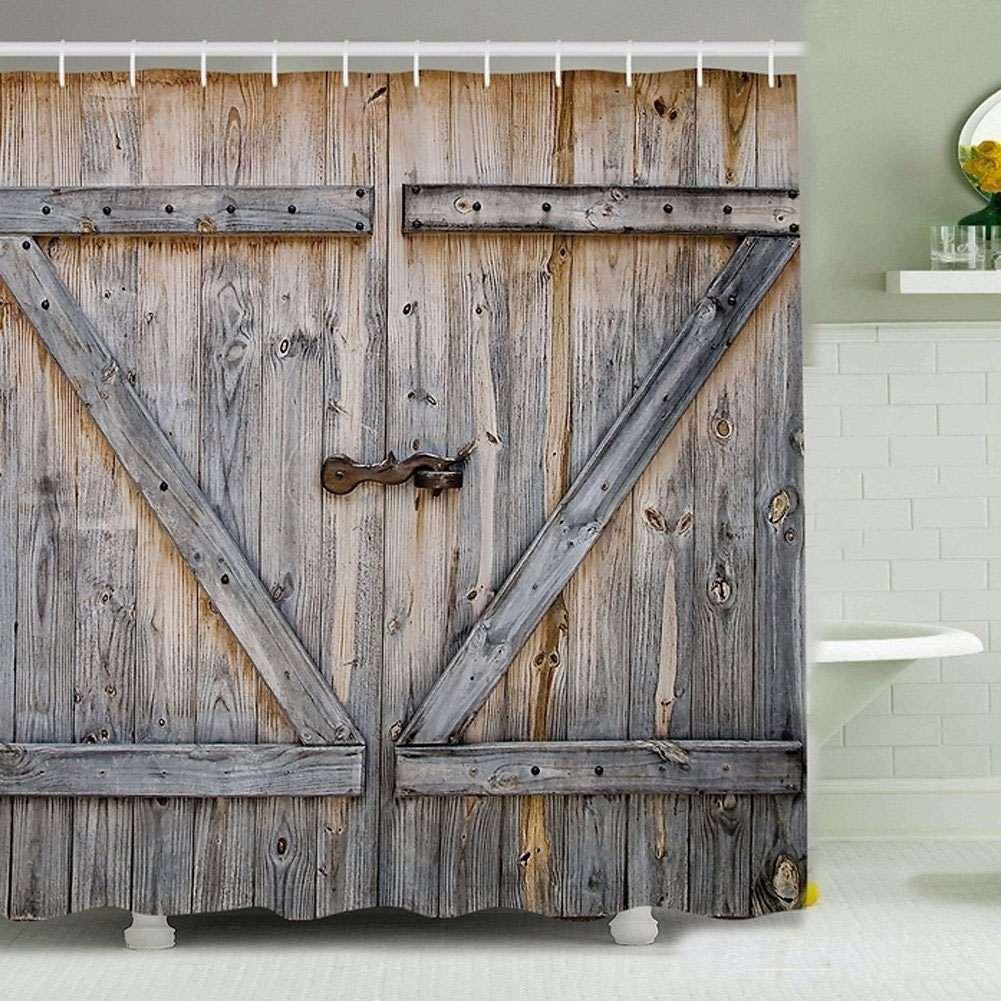 Barn Door Shower Curtain | DudeIWantThat.com
