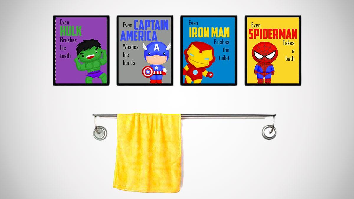 Even Superheroes Practice Good Hygiene Wall Art