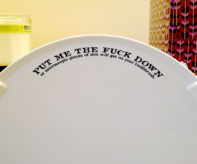 Friendly Toilet Seat Reminder