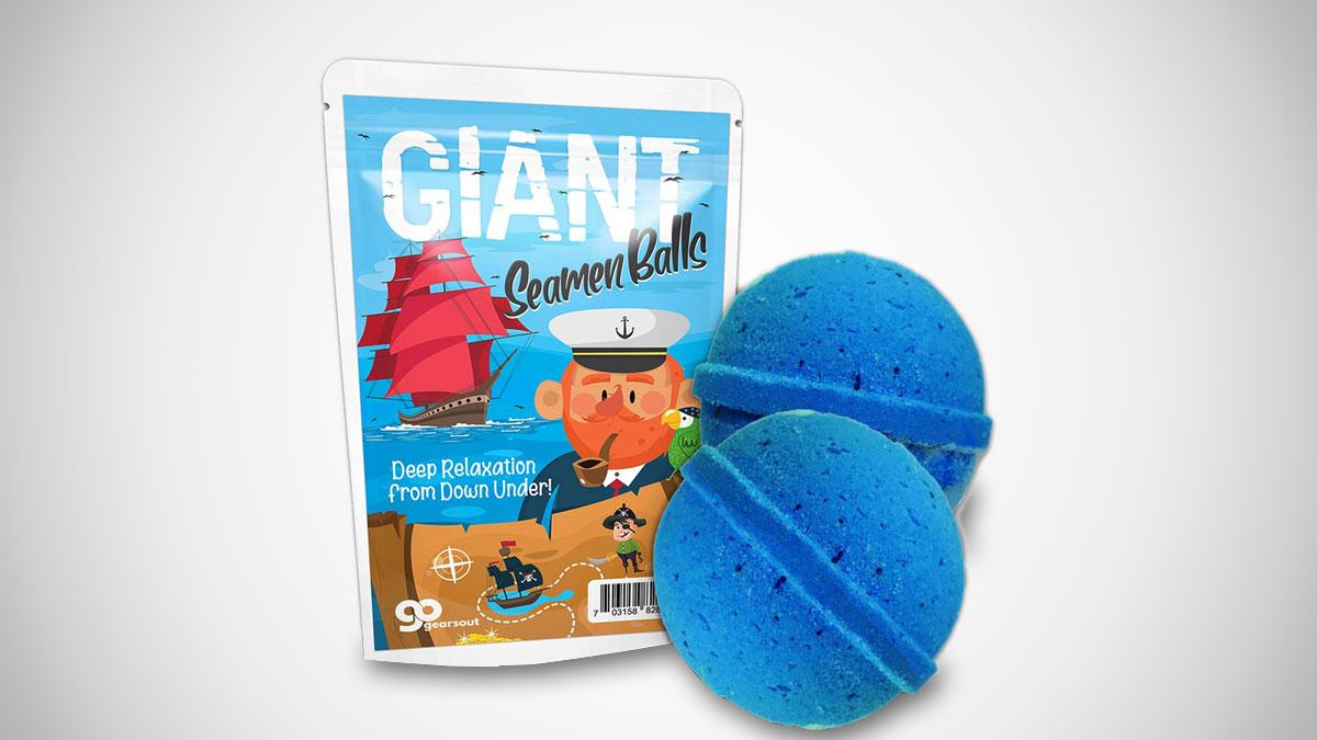 Giant Seamen Balls Bath Bombs