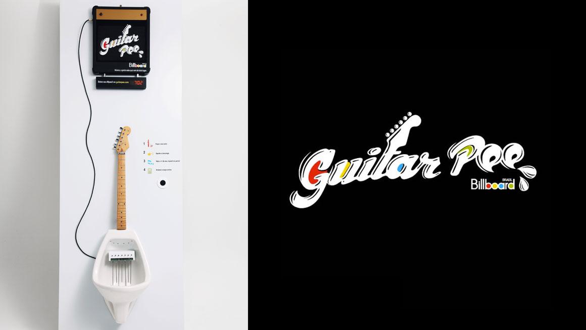 Guitar Pee - Musical Urinal