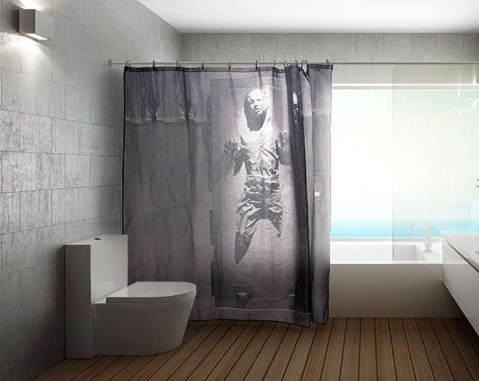 Han Solo In Carbonite Shower Curtain Dudeiwantthat Com