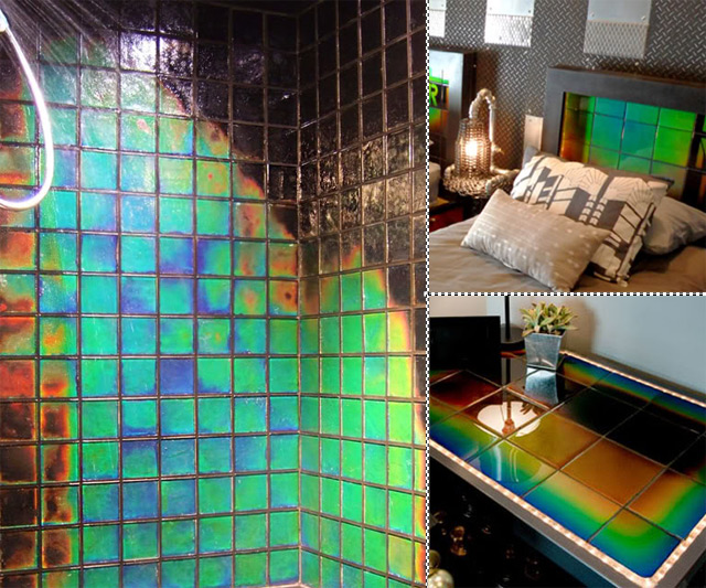 Color Changing Tile Magnificent Heat Sensitive Tile  Dudeiwantthat Inspiration