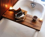 Wood Tub Caddy