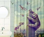 Slothzilla Shower Curtain