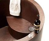 Hammered Copper Soaking Tub