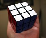 Holding Rubik's Cube Soap