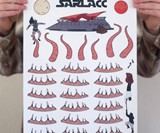 Sarlacc Toilet Decals