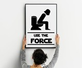 Use the Force Bathroom Art