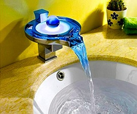 Aquafaucet Color-Changing Waterfall Tap