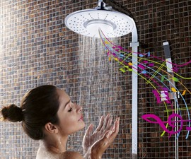 H2OVibe Showerhead with Bluetooth Speaker