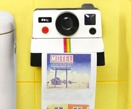 Polaroid Camera Toilet Paper Holder